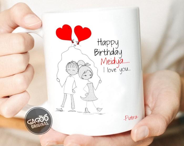 harga Sablon cetak mug custom satuan premium / kado unik romantis - couple - merah muda Tokopedia.com