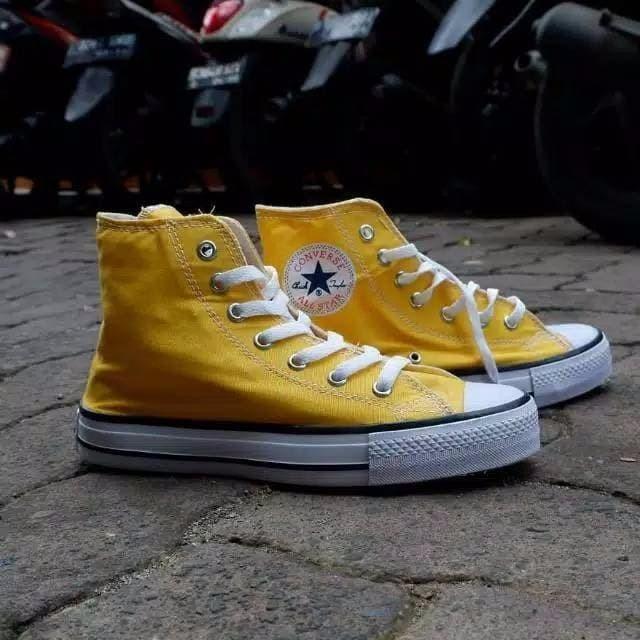 Jual Sepatu Sneakers All Star Converse Classic Kuning High