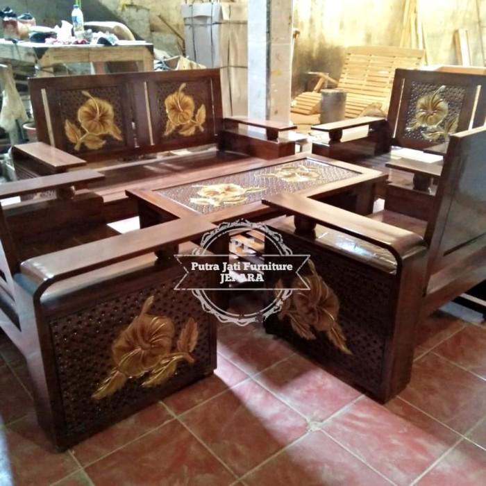 Jual Kursi Kayu Jati Untuk Ruang Tamu Meja Kursi Ukir Jepara Gratis Ongkir Kab Jepara Seni Jati Ukiran Jepara Tokopedia