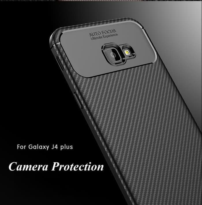 Softcase I-Zore Autofocus Carbon Fiber Cover Case Samsung Galaxy J4