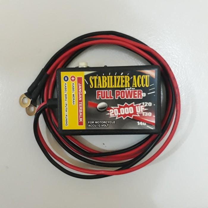 Stabilizer Aki motor 20000 uf / kabel panjang 100 cm