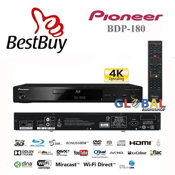 ed39044e8 Jual Pioneer BDP-180-K 3D Blu-ray Player 4K Upscaling Integrated Wi ...