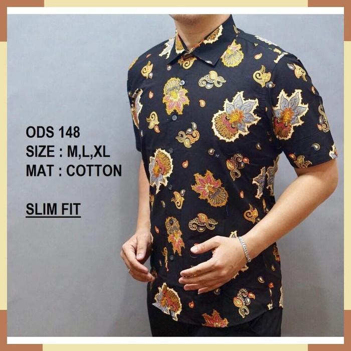Jual Baju Batik Pria Kemeja Batik Model Terbaru Hem Modern Pria Baju ... bb6264b028