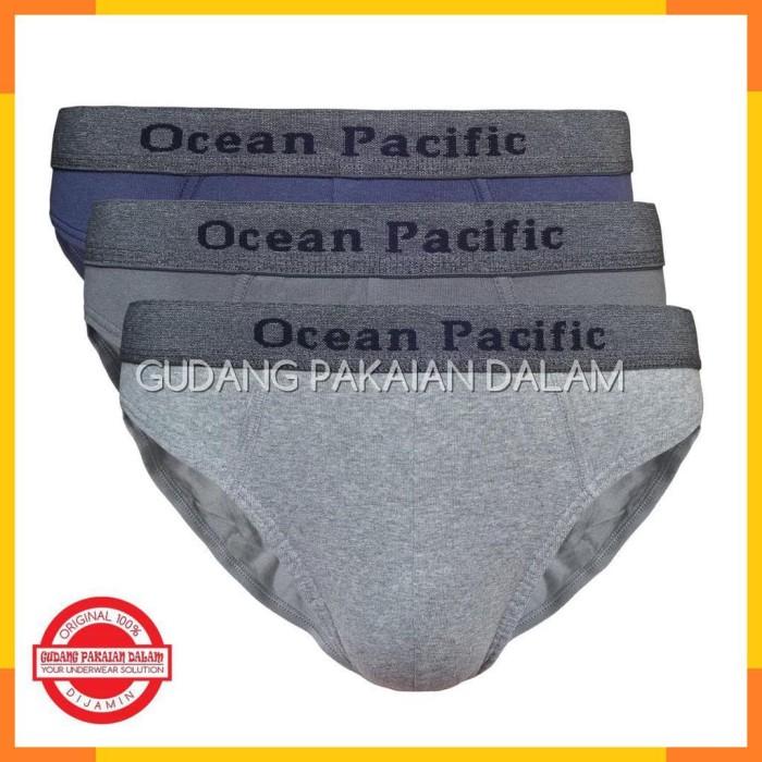 Ocean Pacific Celana Dalam Pria Brief 62 UM3 002-3 Pcs-Multicolor 1b00101ce9