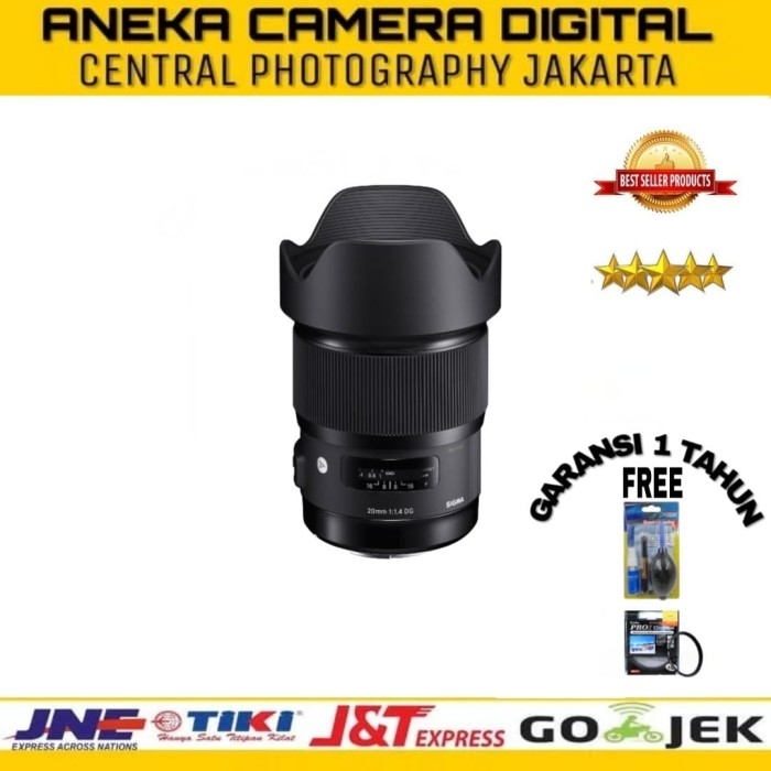 Jual Sigma 20mm f/1 4 DG HSM Art Lens for Sony E - aneka camera digital |  Tokopedia