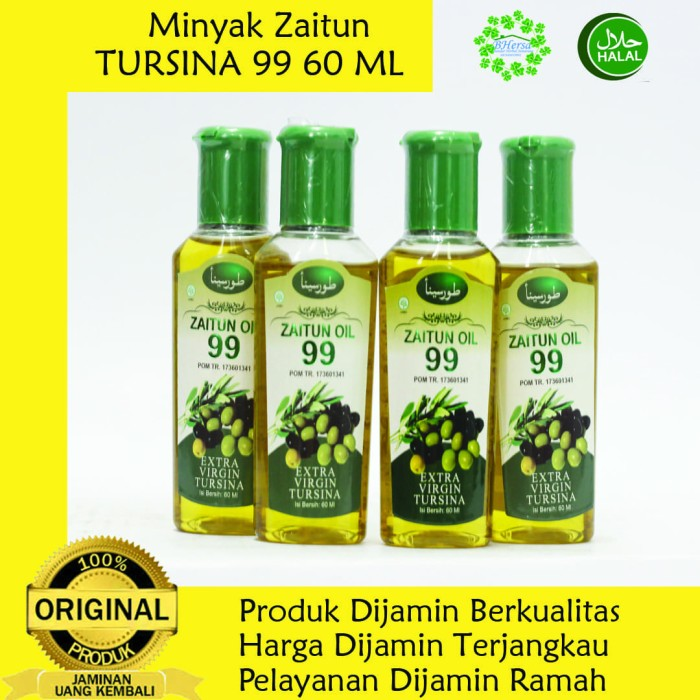 Foto Produk Minyak Zaitun Oil 99 Tursina Extra Virgin - 60 ml dari Bandar Herbal Semarang
