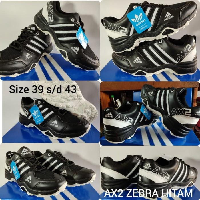 Sepatu adidas ax2 hitam list putih 72068e9207