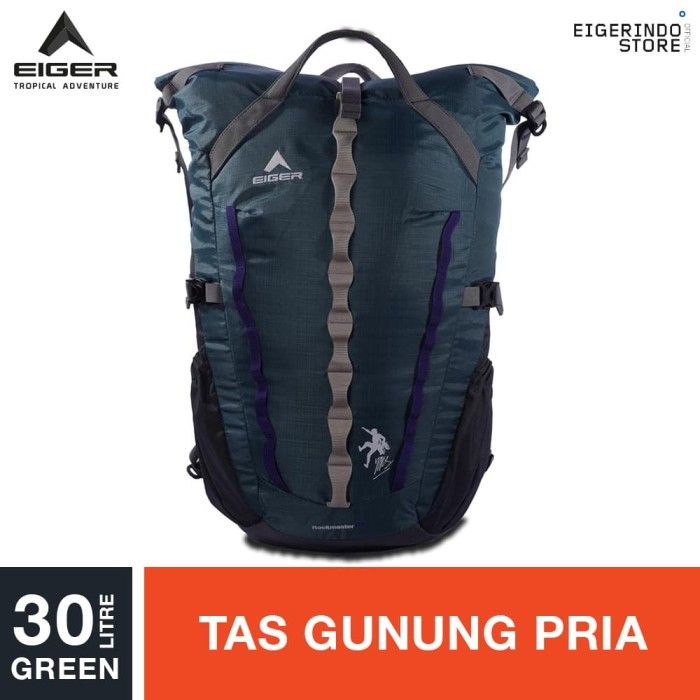 harga Eiger rockmaster climbing bag 30l - green Tokopedia.com