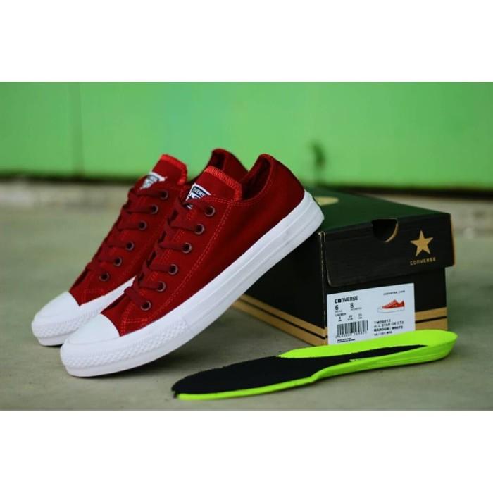 44c7dad2a75f Jual Sepatu Converse All Star CT 2 Maroon Low Premium Quality ...