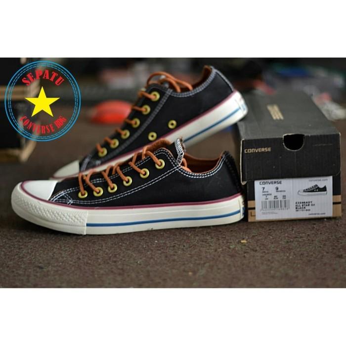 Sepatu Converse All Star Chuck Taylor Tali Tan Low Hitam Cewek Cowok