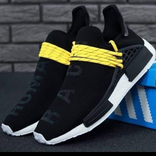 58ef46db4 Jual Adidas Nmd Human Race Black Yellow Premium Original Sepatu ...