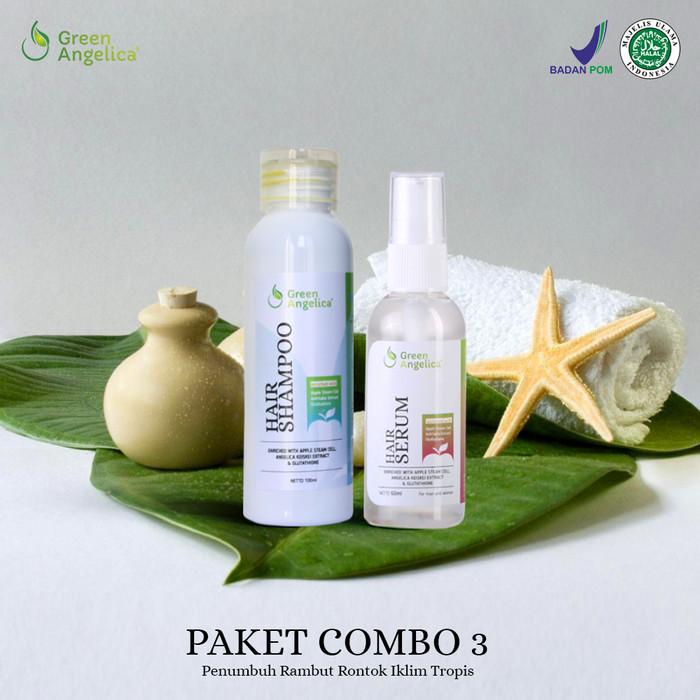 Jual Paket Combo 3 Green Angelica Mencegah Rambut Rontok Dan Ketombe ... 0fab8490e6