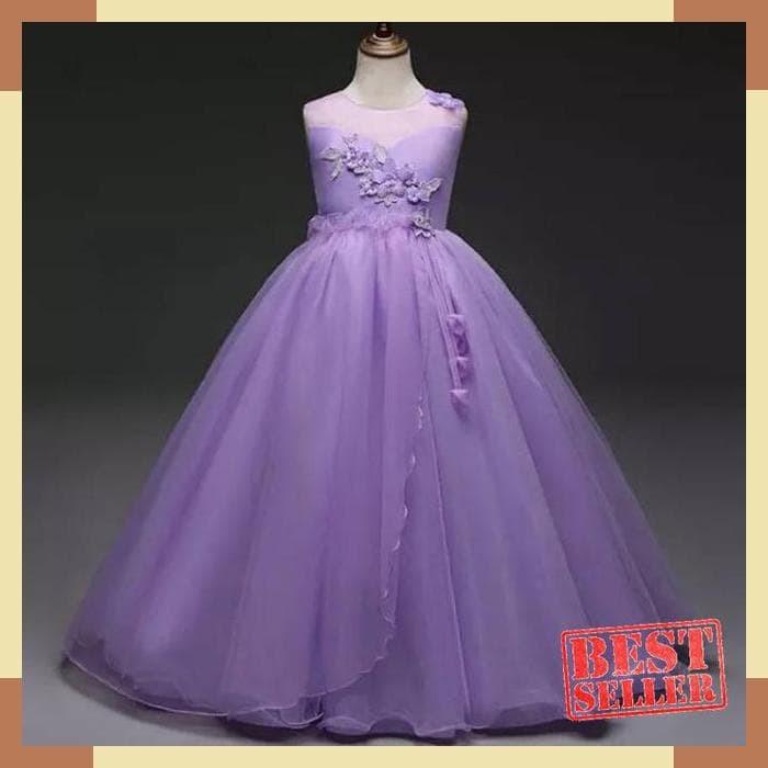Jual Ga2570 Riana Dress Purple Gaun Pesta Ulang Tahun Anak Remaja