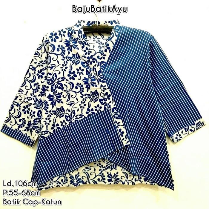 Jual Blouse Batik Wanita Kantor Atasan Batik Murah Model Kimono Kota Malang Batikayu2 Tokopedia