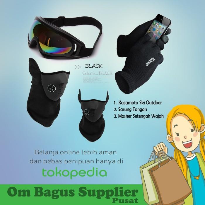 harga Paket murah aksesoris sepeda/motor goggles sarung tangan dan masker Tokopedia.com