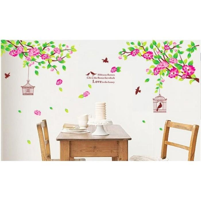 harga Wallsticker stiker dinding bunga sakura sangkar burung bird cages ay19 Tokopedia.com