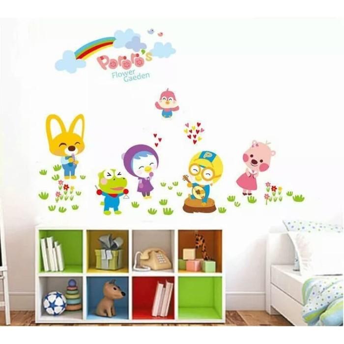 jual wall sticker pororo anak kids kartun ay9175 sticker dinding