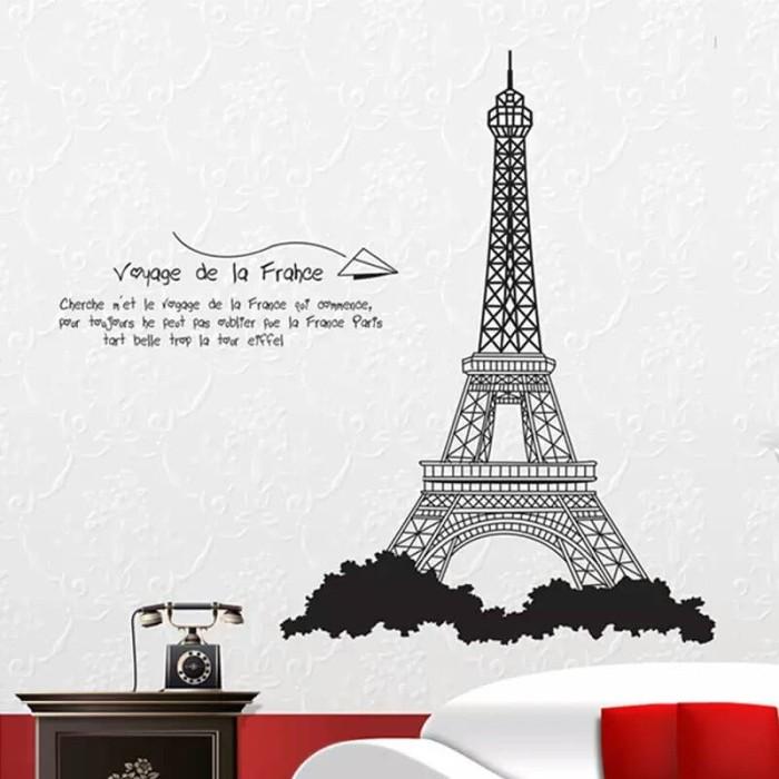 Wallpaper Dinding Kamar Gambar Menara Eiffel  jual wall sticker stiker dinding menara eiffel paris tower ay726 kota depok lubnaelectro tokopedia