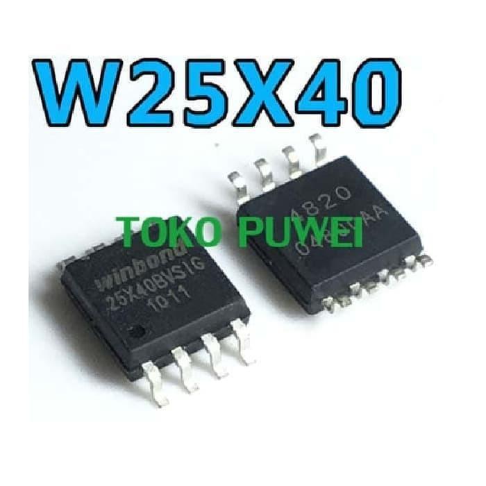 Foto Produk 25X40AVSIG 25X40BVSIG 25X40 25X40 WINBOND SPI FLASH 4Mbit BP64 dari toko puwei