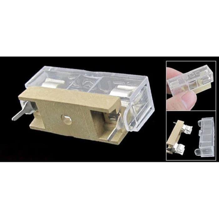 Foto Produk Soldering Panel Mount PCB Fuse Holder Case with Cover 5x20mm DG AM83 dari toko puwei