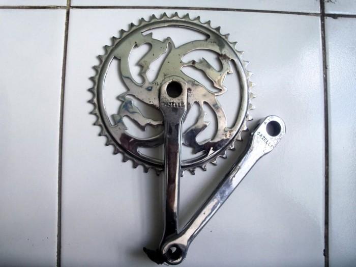 Jual Sepeda Onthel - Set Gear Gazelle Repro Croom - Kab