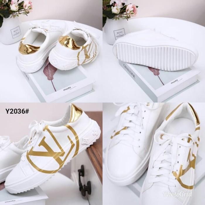 264c4e92591e4 Lv Louis Vuitton Women s Time Out Sneakers Shoes..... Kode Y2036 21 B