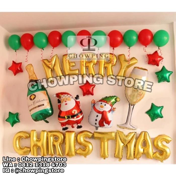 harga Set a - paket balon dekorasi natal merry christmas Tokopedia.com