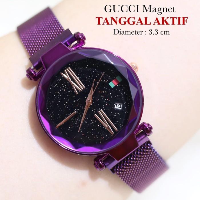 Jam tangan wanita GUCCI MAGNET TANGGAL AKTIF SUPER PREMIUM WANITA