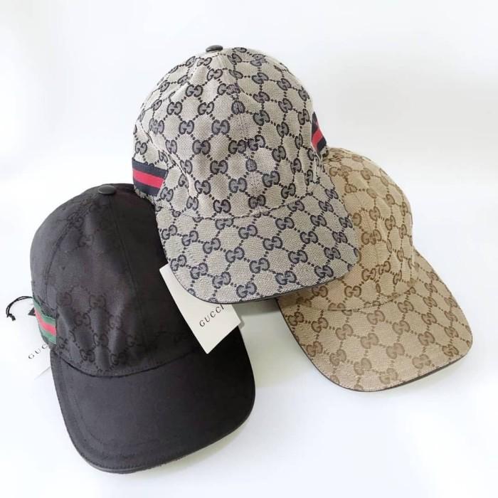 7a2eda50b Jual GUCCI hat Original GG canvas baseball hat with Web - Jakarta Barat -  BagAuthentic | Tokopedia