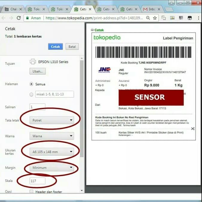 picture regarding Sticker Printable referred to as Jual Kertas Sticker Printable Measurement A6 Chromo - Kota Bekasi - Atala Retail store  Tokopedia