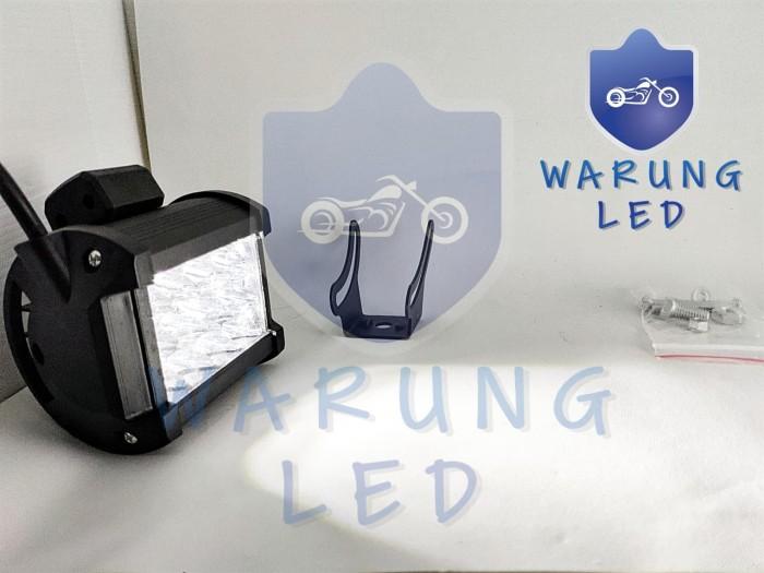 harga Lampu tembak kabut sorot offroad motor led 12 mata 3 susun dua warna Tokopedia.com