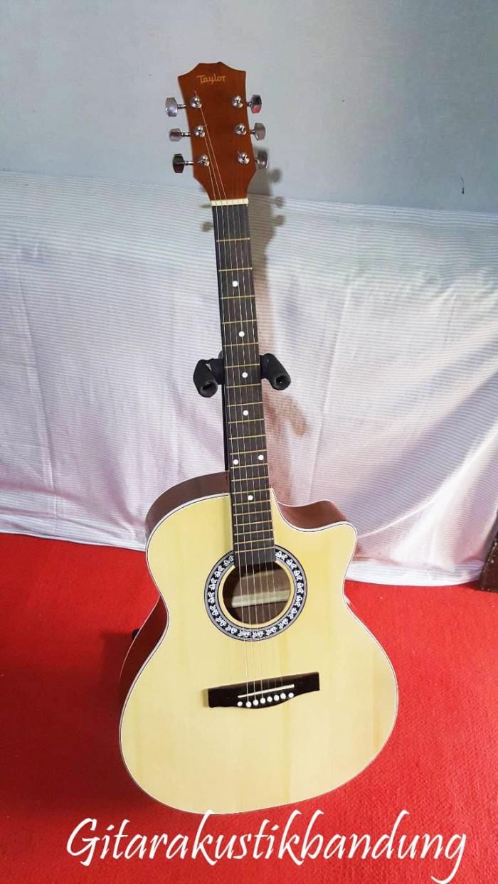 harga Gitar akustik jumbo murah bandung bisa gosend ready yu sudah sama tas Tokopedia.com