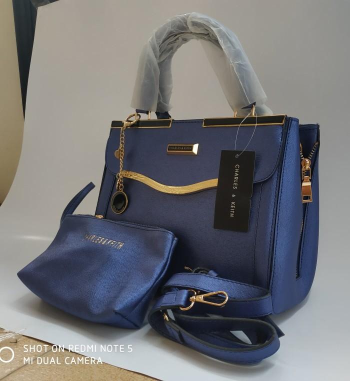 harga Tas wanita tas import tas branded korea hongkong batam murah 079 navy  Tokopedia.com e9ba031a1b