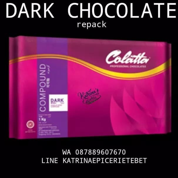 harga Colatta chocolate dark compound 1kg - cokelat batang Tokopedia.com