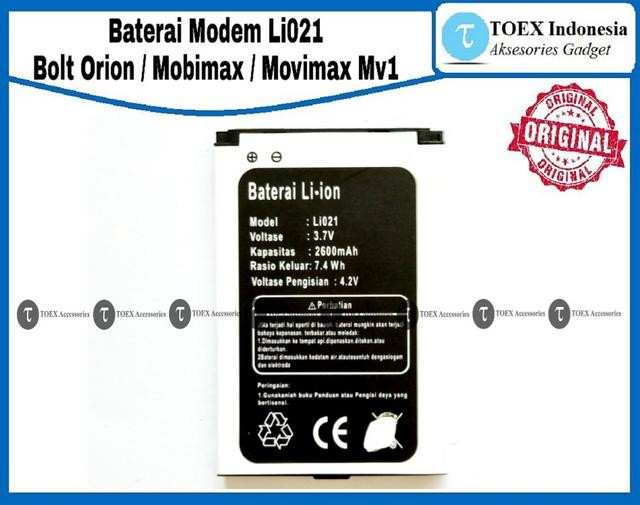 ... harga Baterai modem bolt orion li 021 original - battery batre movimax mv1 Tokopedia.com