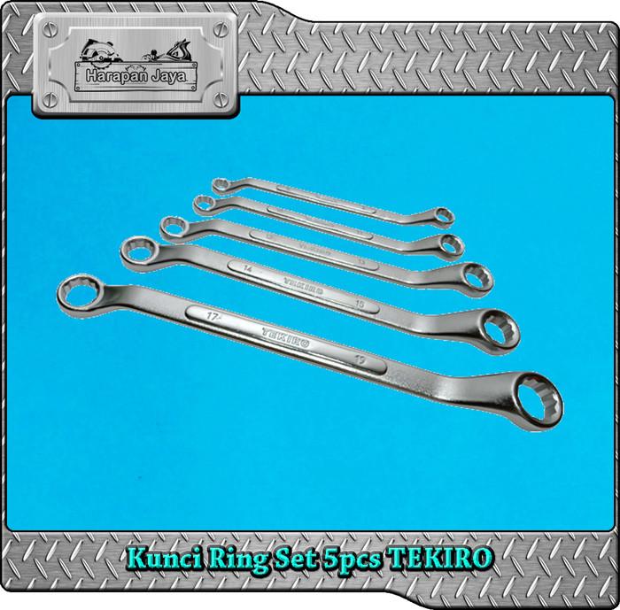 Kunci Ring Set 5pcs TEKIRO | Box End Wrench Set 5 pcs 8 - 19mm TEKIRO