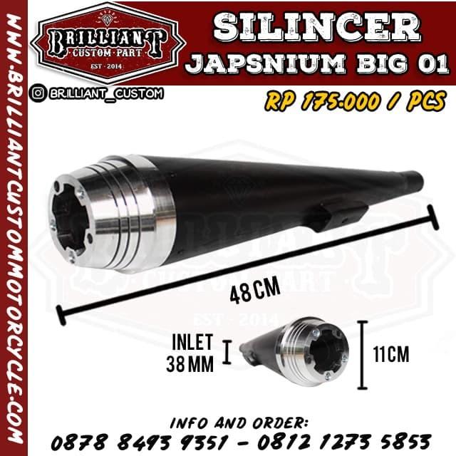 harga Silincer knalpot japstyle alumunium (japsnium) Tokopedia.com
