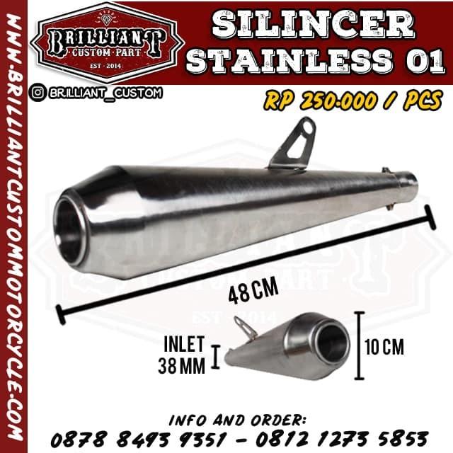 harga Silincer knalpot japstyle stainless Tokopedia.com