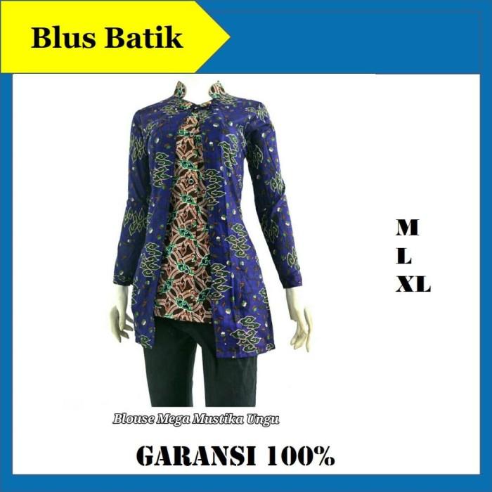 Jual Blouse Batik Atasan Wanita Baju Batik Wanita Atasan Kantor Modern Ungu Kab Pekalongan Batik Zamzam Tokopedia
