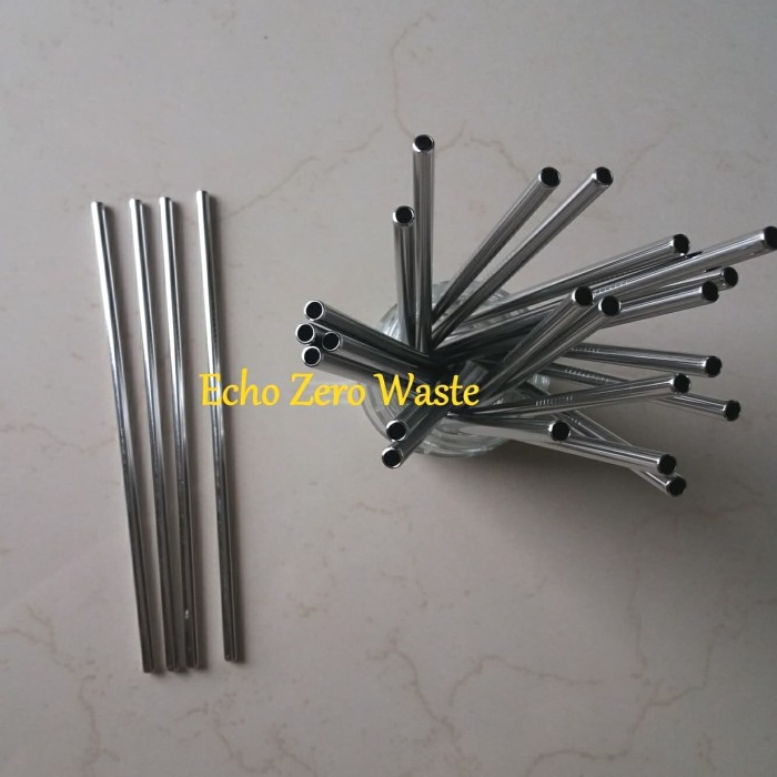 Jual Sedotan Lurus Stainless Steel Straw Ramah Lingkungan Zero Waste - DKI  Jakarta - Echo - Zero Waste   Tokopedia