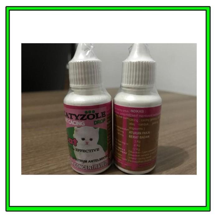 Harga Jual Catyzole Obat Cacing Kucing Cair Tetes .