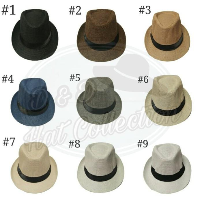 D   D Hat Collection Topi Fedora Anyaman Polos Putih - tempat jual ... 042515ede4