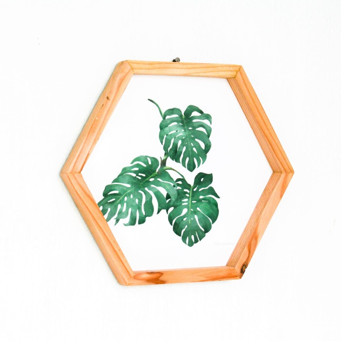 Jual Poster Tanaman Tropical Leaves Hiasan Dinding Wall Decor