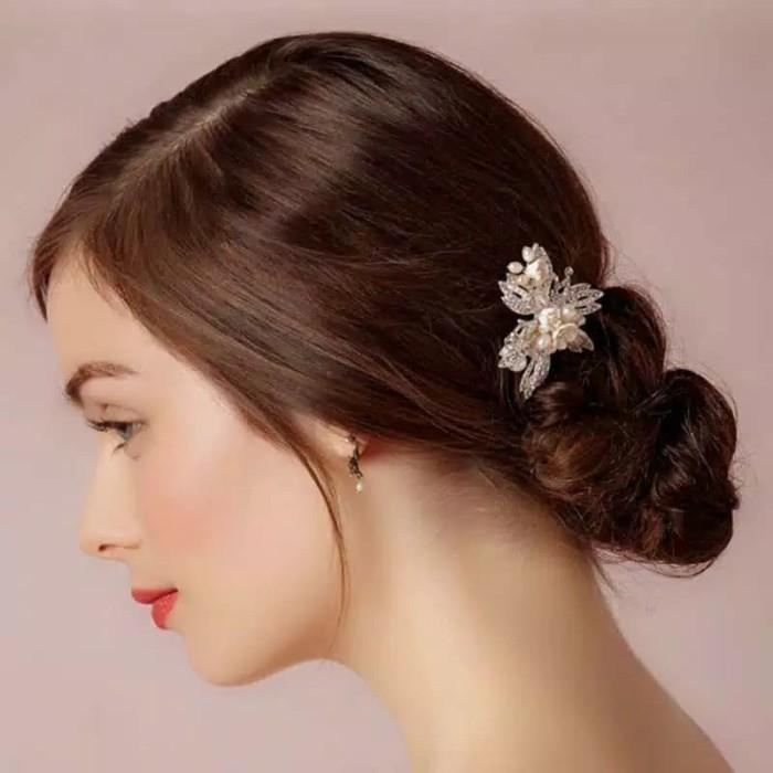 Jual Bride Wedding Hair Accessories Ar024 Headpiece Aksesoris Crystal Jakarta Barat Supermurah88 Tokopedia