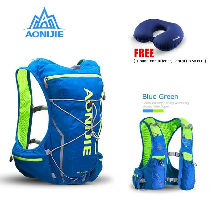 harga Aonijie e904s - 10l hydration backpack trail marathon running - blue Tokopedia.com
