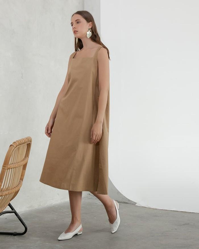 harga This is april - inez dress brown - 630077 Tokopedia.com