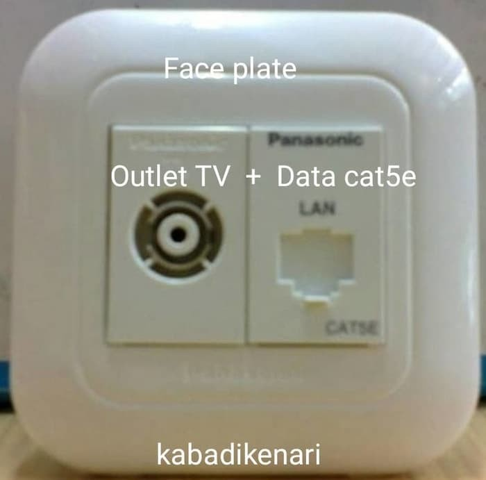 FACE PLATE + TV + MODUL DATA CAT5e PANASONIC OUTLET DATA BUKAN AMP