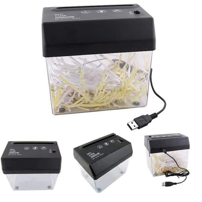 Mesin Penghancur Kertas Mini/Mini Shredder Paper Machine With Usb
