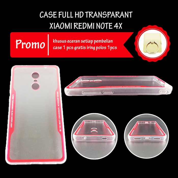 Jual Case Xiaomi Redmi Note 4x Full Hd Transparan Acrylic Casing Hp Bening Jakarta Pusat Moxomi Tokopedia