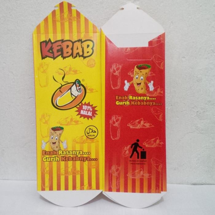 harga Dus kebab full color kecil - dus kebab full colour - packaging kebab Tokopedia.com